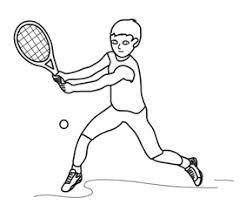 Bambino Che Gioca A Tennis Da Colorare Cose Per Crescere