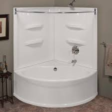 lyons sea wave v 48 x 48 x 20 bathtub with rear center dain at menards