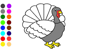 Turkey Coloring Game L Coloring Book Learn The Colors For Children