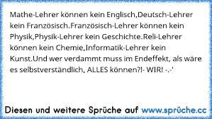 Mathe Lehrer Können Kein Englisch Deutsch Lehrer Kein Chemie