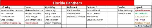 Florida Panthers The Energy Line