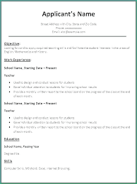 Resume Samples For College Students With No Experience Objectives