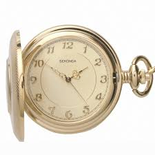 sekonda gold plated half hunter pocket watch gents gold plated half hunter pocket watch