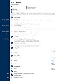 Web Developer Cv Web Developer Resume Sample Guide 20 Examples