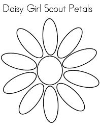 daisy petal coloring page flower girl scout inside pages gerri the geranium