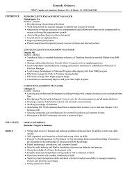 Client Engagement Manager Resume Samples Velvet Jobs