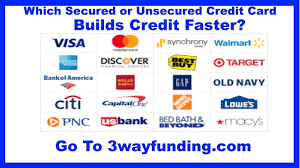 2018 2019 best secured vs unsecured credit cards to build no credit or bad credit