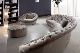 Round Sofa Chair Living Room Furniture Divani Casa Cosmopolitan Sectional Sofa Chair And Ottoman