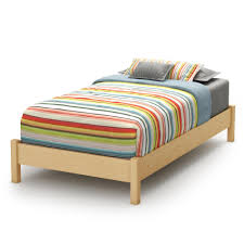 Natural Maple Bedroom Furniture South Shore Step One Collection Twin Platform Bed 39 Home