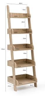 Finebuy Leiterregal 48 X 155 X 37cm Regal Holz Treppenregal Standregal Dekoregal