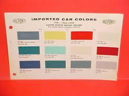 Austin Healey Color Chart Details About 1959 1960 1961 Austin Motor Co Ltd Healey 3000 Sprite Mk Ii A 40 A40 Paint Chips