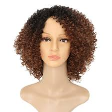 40 Off Afro Kinky Curly Hair Ombre Brown Fluffy Short Synthetic