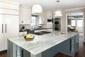 white and gray quartz countertops white shaker style cabinets white