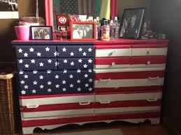 painted furniture union jack autumn vignette. Painted American Flag DIY Dresser Furniture Union Jack Autumn Vignette