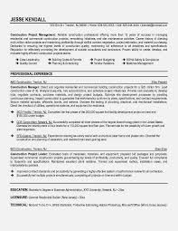 construction management resume objective resume template