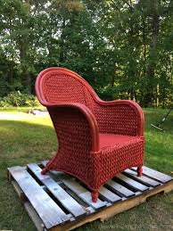 painting wicker furnitureHow To Paint Wicker Furniture With a Brush  Chair Makeover