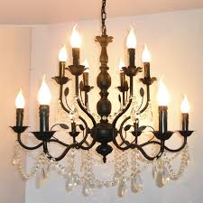 pare s on black iron candle chandelier ping module 69