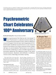 Psychrometric Chart Celebrates 100th Anniversary Ashrae
