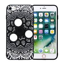 Fidget Spinner Pattern Fascinating Olixar IPhone 48 48 Fidget Spinner Pattern Case Black White