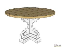 diy round outdoor table. Free Woodworking Plans To Build A Chunky French Farmhouse Style 48\ Diy Round Outdoor Table