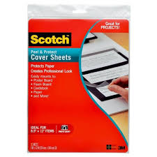 Sheets 12 Scotch™ Size Single-sided 9 X In Letter Target Laminating