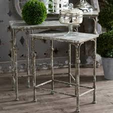 rustic accents metal nesting tables set of 3 antique farmhouse throughout remodel 15