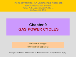 Chapter 9 GAS POWER CYCLES - ppt download