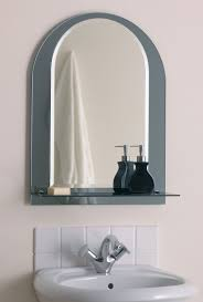 bathroom astounding round bathroom mirror with integrated mirror shelf and standalone white ceramic bathroom sink