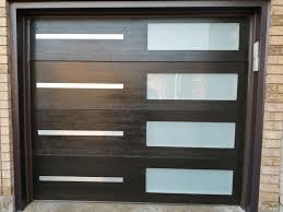 modern garage doors stainless steel glass strip