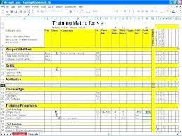 Employee Training Matrix Template Excel Skill Matrix Template For Employees