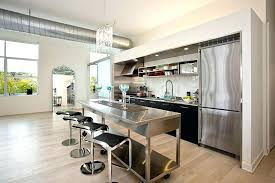 One Wall Kitchen Designs With An Island Plans Impressive Decoration