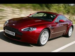 2007 Aston Martin V8 Vantage - Red Front And Side Speed Closeup ...