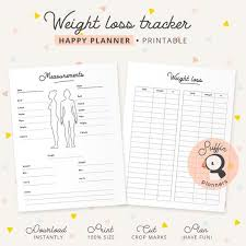 Happy Planner Weight Loss Tracker Weight Loss Printable Chart For Classic Happy Planners Fitness Printable Planner Weight Printable S01