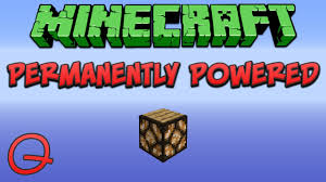 Minecraft Permanently Powered Redstone Lamp Quick Tutorial Youtube