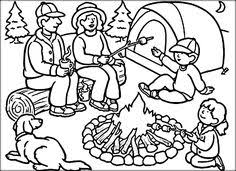 Small Picture Going Camping coloring sheet to print out with bible verse at Devo