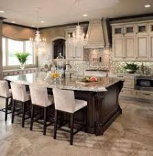 kitchens ideas. Beautiful Kitchen, Love The Bar Stools, Chandeliers And Two Diff Colors Of Cabinets Island (Generally, I Would Not Like Kitchens Ideas N