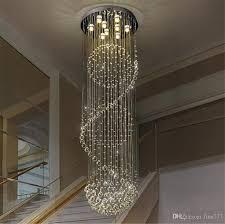 Großhandel Villa Duplex Treppe Led Kristall Kronleuchter Wohnzimmer Licht Restaurant Licht Schlafzimmer Leuchte Modern Einfach Von Fine777 10403