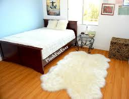 details about 36x60 white sheepskin area rug nursery rug runner new warm white fur