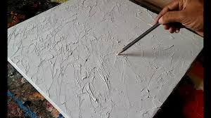 how to texture canvas texturing canvas with gesso for abstract painting demonstration