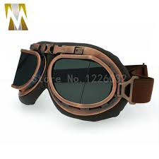 clic bronze motorcross helmet goggles gles with smoking lens retro jet helmet eyewear for cafe racer dirt bike sungles for riding bikes sungles