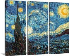 greatbigcanvas see more classic art the starry night june 1889 wall art by vincent van gogh from on great big canvas wall art with 123 best classic art images on pinterest