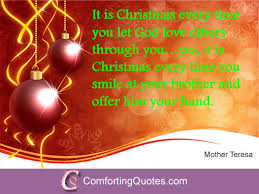 Religious Christmas Quotes Inspiration Quote By Mother Teresa On Christmas ComfortingQuotes