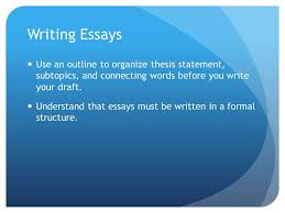 essay structure and format essay format and structure essays are  7 writing essays use an outline