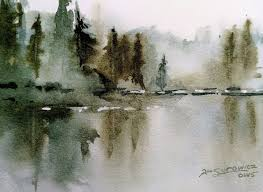 loose transpa watercolor painting demonstration misty lake hildur k o art blog