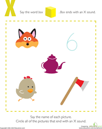 Phonics is obviously an important early developmental skill for children to start learning and our worksheets can help kids learn phonics. Letter Sounds X Worksheet Education Com