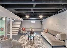 Unfinished Basement Ceiling Painted White Mirhano