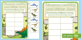 Characteristics Of Effective Learning Dinosaur Themed