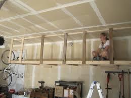 diy ceiling storage rack diy garage ceiling storage rack