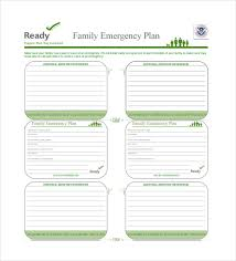 Family Emergency Plan Template Template Business