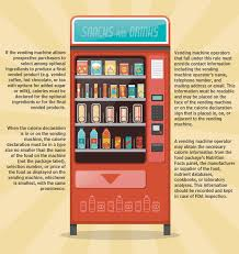 Vending Machine Nutrition Facts Delectable Food First Blog Say Hello To Visible Calorie Labeling In Vendin